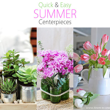 Quick And Easy Summer Centerpieces Images