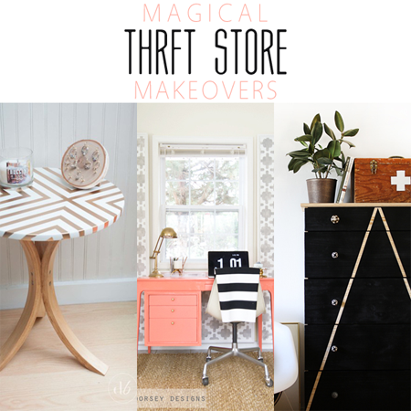 Magical Thrift Store Makeovers /// DIY Projects