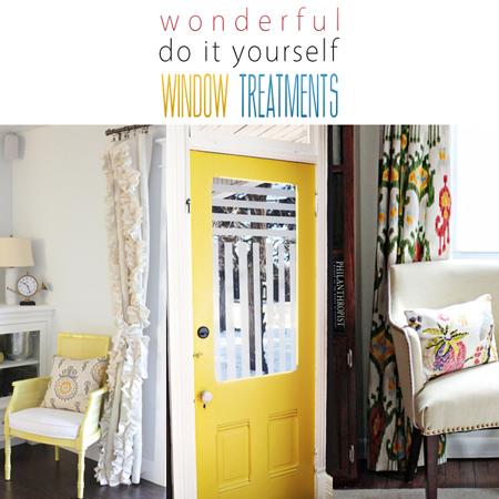 Wonderful DIY Window Treatments