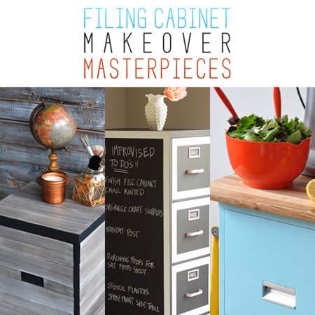 Filing Cabinet Makeover Masterpieces