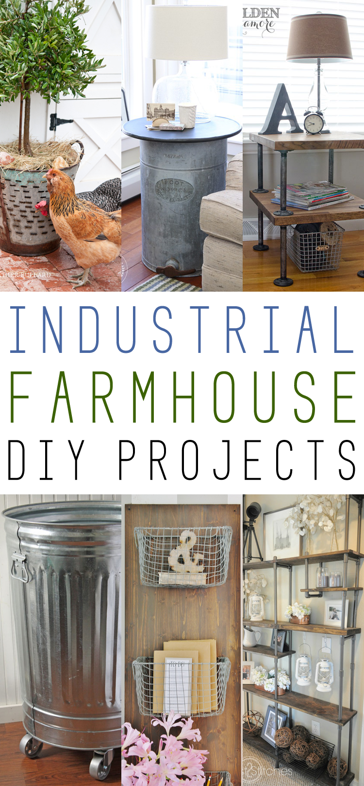 Industrial Farmhouse DIY Projects on farmhouse living room