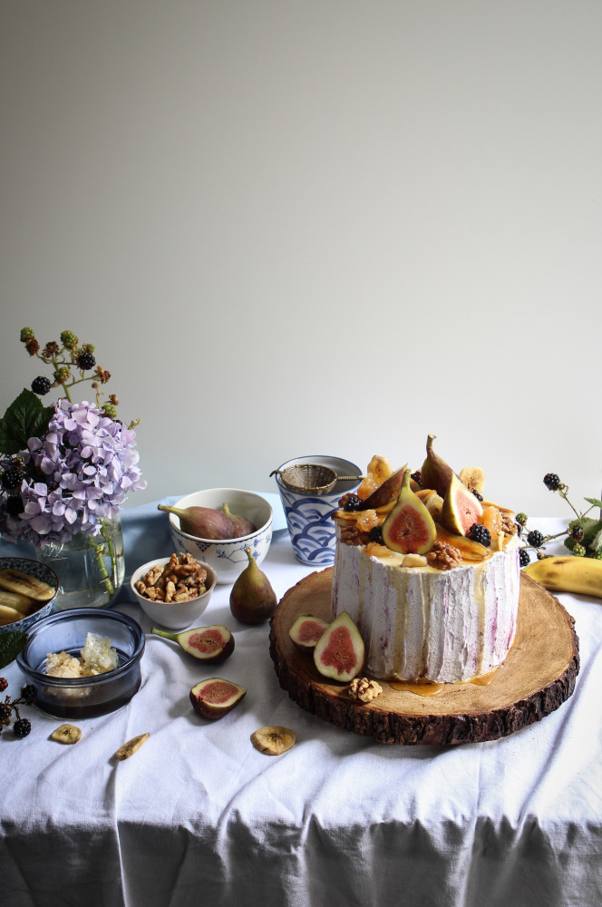 http://thecottagemarket.com/wp-content/uploads/2015/08/banana-walnut-honey-cake-with-figs-and-blackberry-cream-1-361-664x1000.jpg