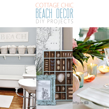 cottage chic beach decor diy projects the cottage market - Diy Beach Decor