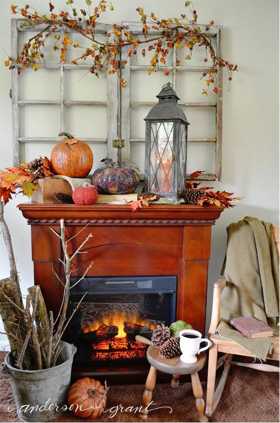2014 Fall mantel display anderson and grant