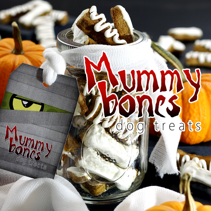 Mummy Bones Pumpkin Peanut Butter Dog Treats