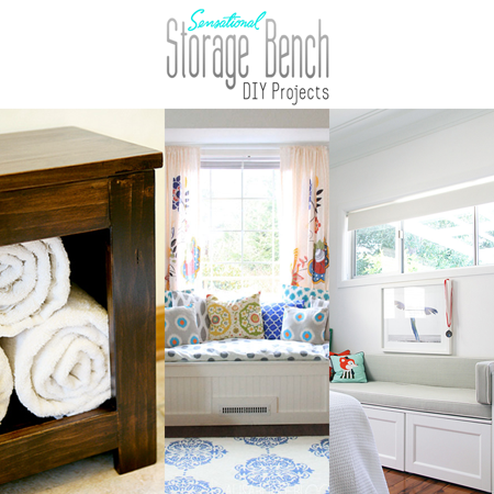 Sensational Storage Bench DIY Projects
