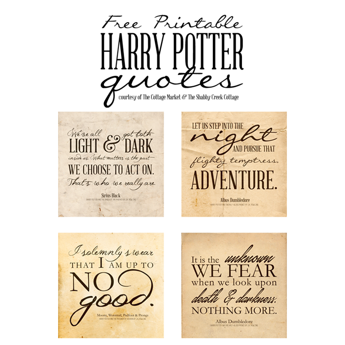 Free Harry Potter Quotes - Printable Posters