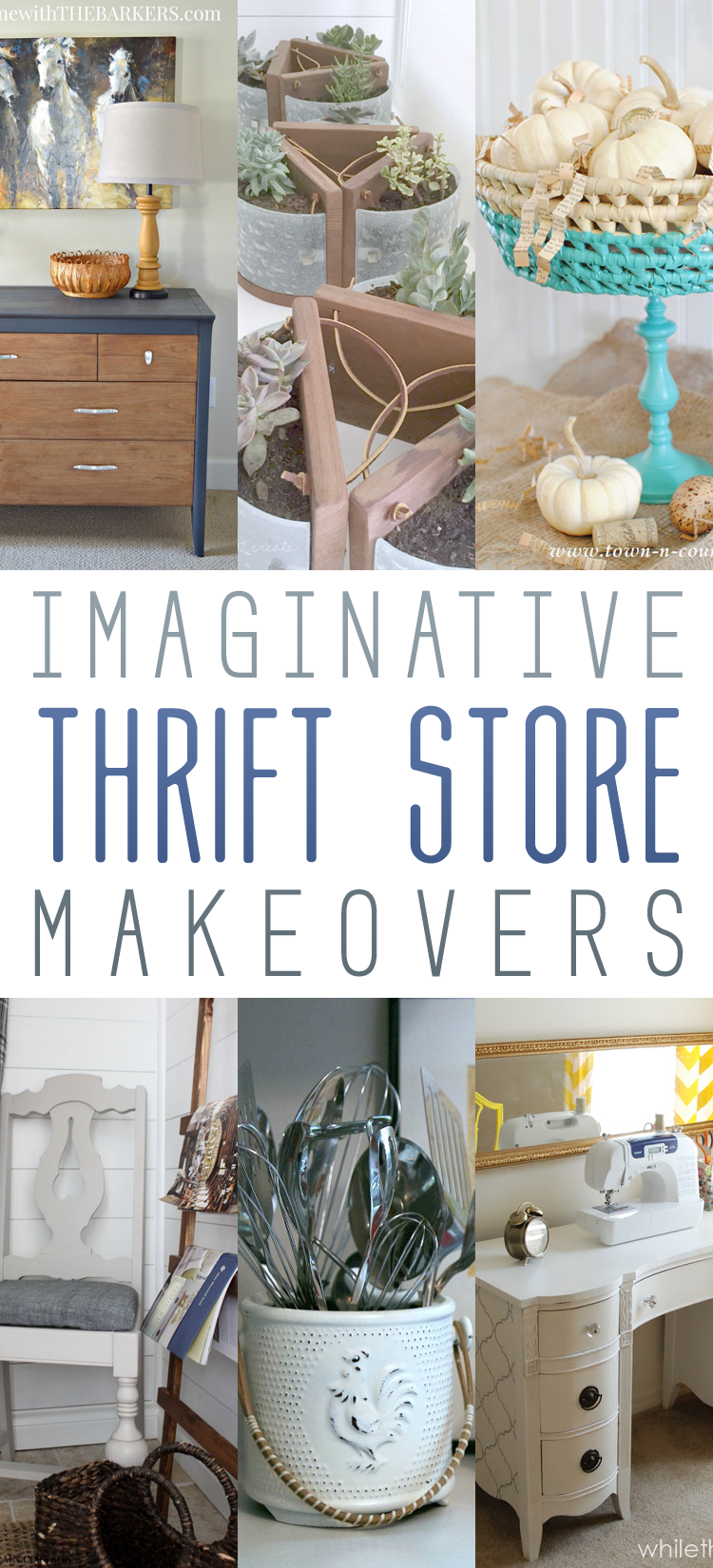 Imaginative Thrift Store Makeovers The Cottage Market