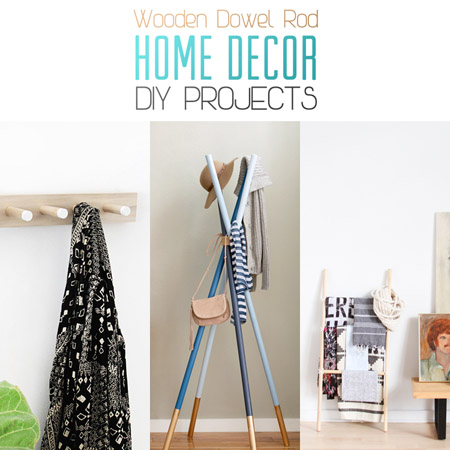 Wooden Dowel Rack Easy Home Decorating Ideas
