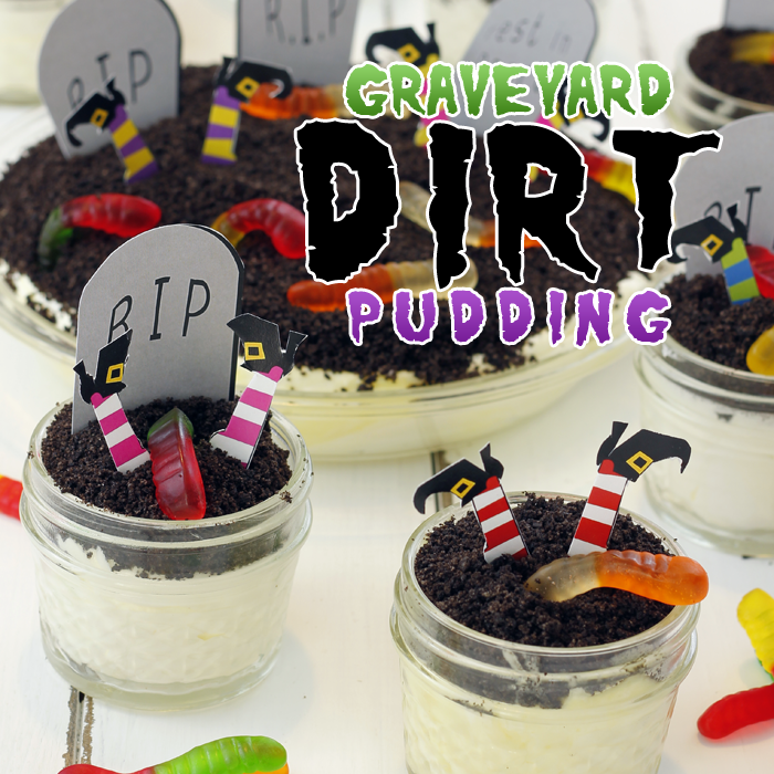 Graveyard Dirt Pudding with Free Printables