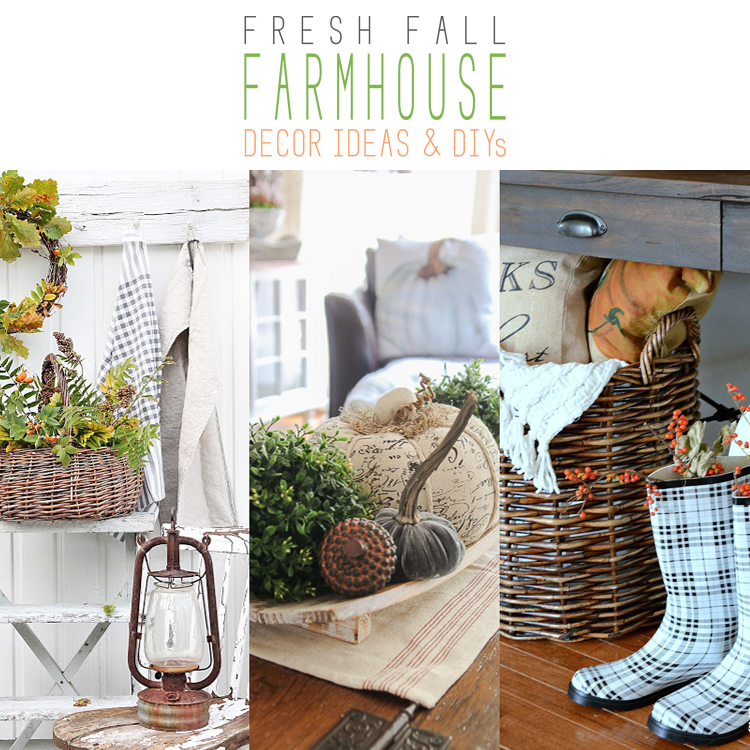 Fresh Fall Farmhouse Decor Ideas and DIY's on Farmhouse Friday
