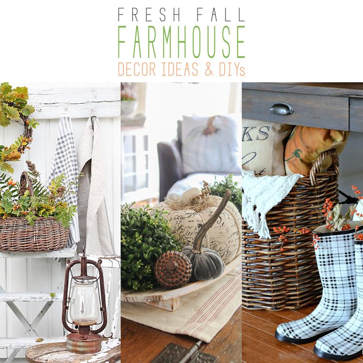 Fresh Fall Farmhouse Decor Ideas and DIYs on Farmhouse Friday