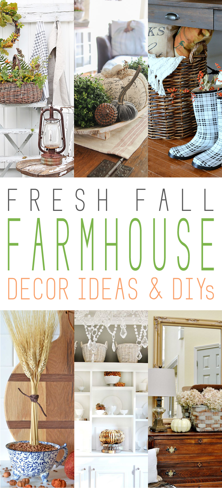 Fresh fall farmhouse decor ideas and diy 39 s on farmhouse for Farmhouse cottage decor