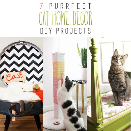 7 purrfect home decor cat diy projects the cottage market for Cat decorations home