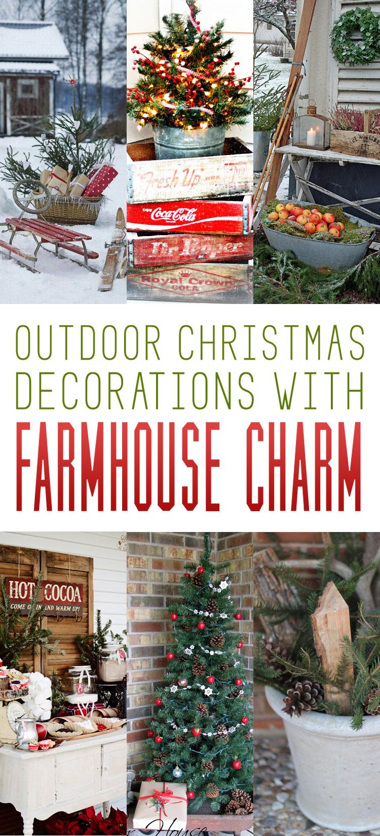 farmhousechristmas tower 00001 christmas farmhouse - Outdoor Farmhouse Christmas Decorations