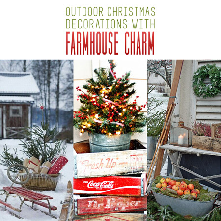outdoor christmas decorations with farmhouse charm