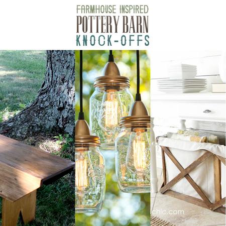Farmhouse Inspired Pottery Barn Knock-offs
