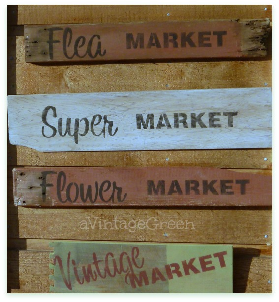 four Market signs