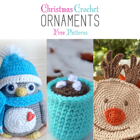Christmas Crochet Ornaments with Free Patterns