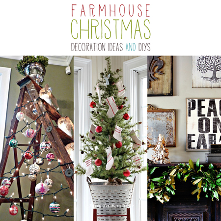 farmhouse christmas decoration ideas and diys - Farmhouse Christmas Decorating Ideas