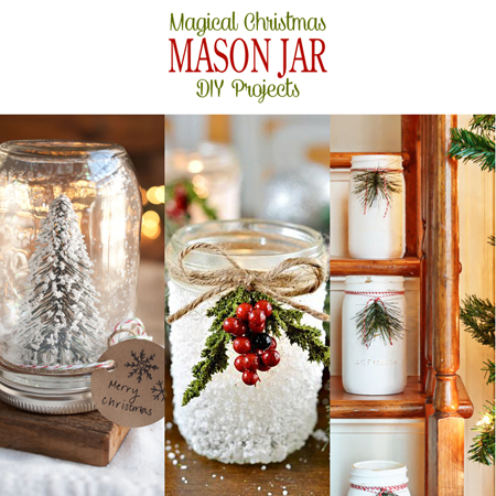 magical christmas mason jar diy projects - Christmas Jar Decorations
