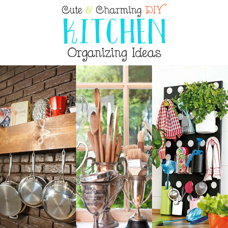 Cute and Charming DIY Kitchen Organizing Ideas - The ...
