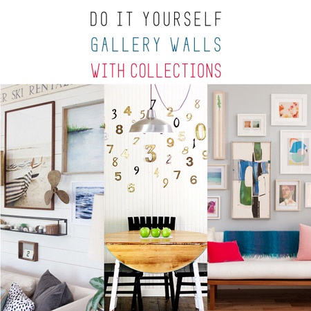 DIY Gallery Walls with Collections