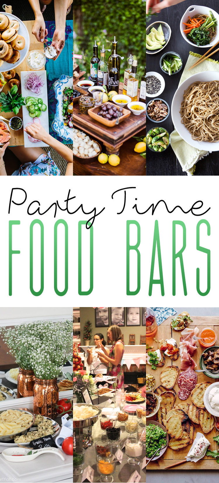 Party time food bars the cottage market for Food bar party ideas