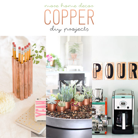 more home decor copper diy projects - Copper Home Decor