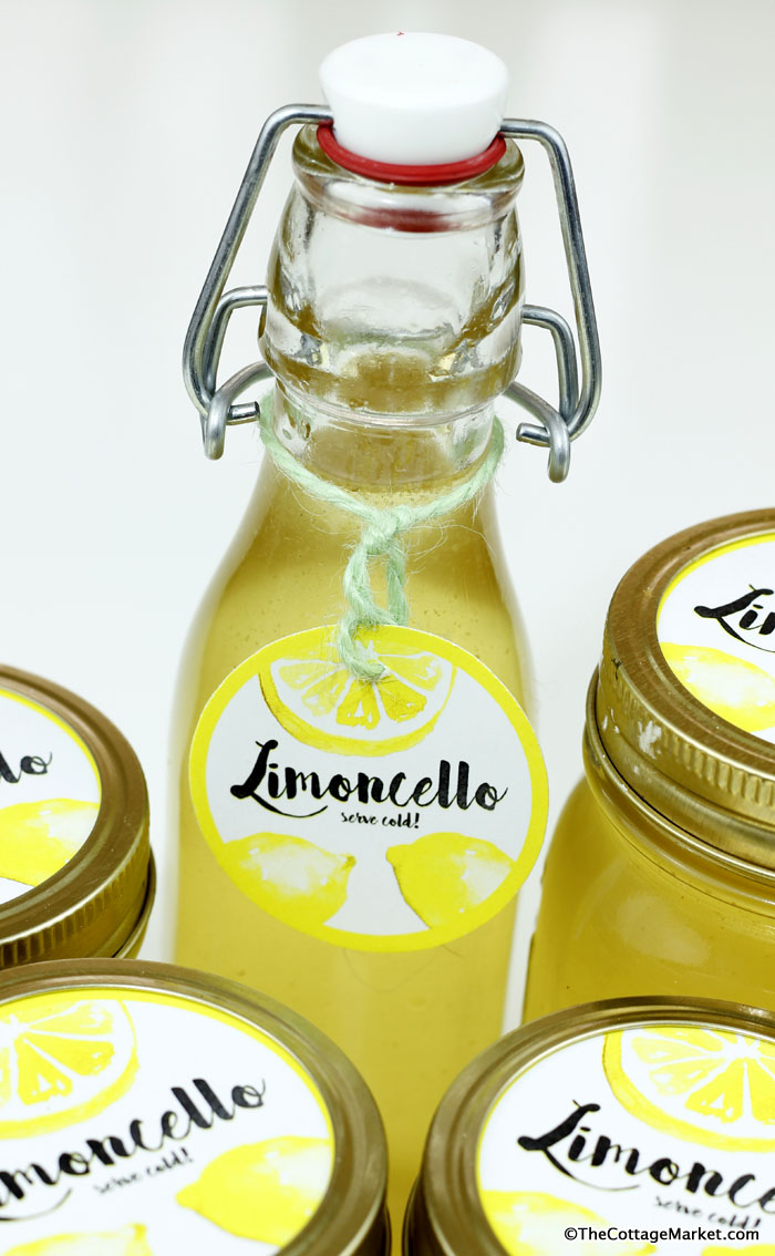 This fun bottle is great for storing homemade limoncello.