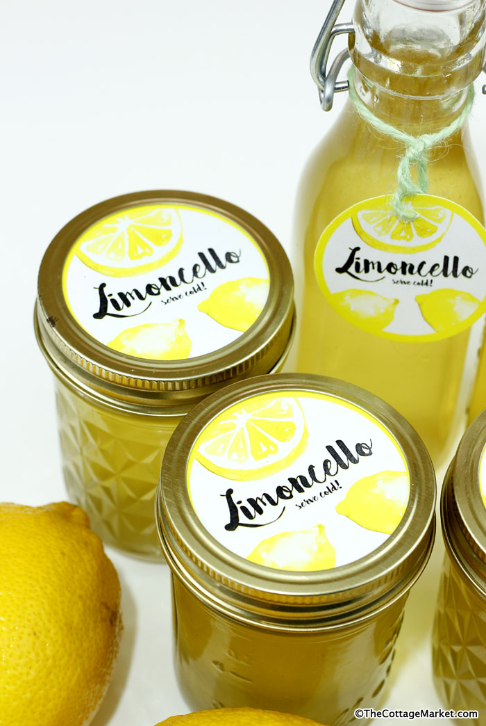 This tasty looking limoncello is easy to make with fresh lemons.