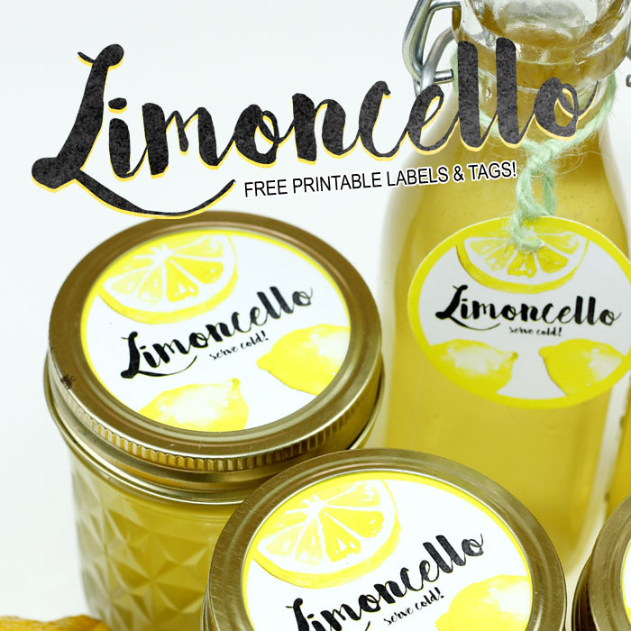 This homemade limoncello with cute labels makes a great gift.