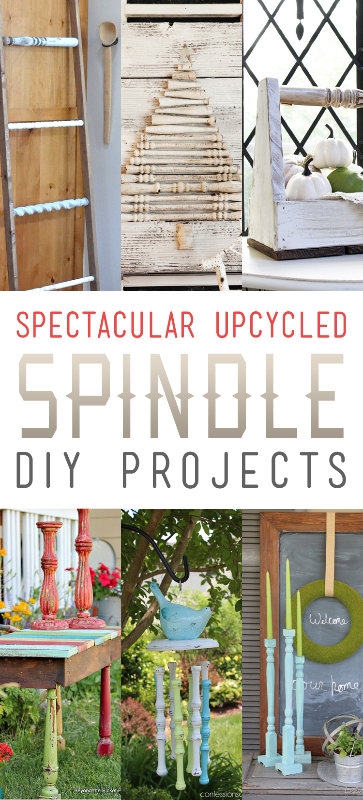 Spectacular Upcycled Spindle Diy Projects The Cottage Market