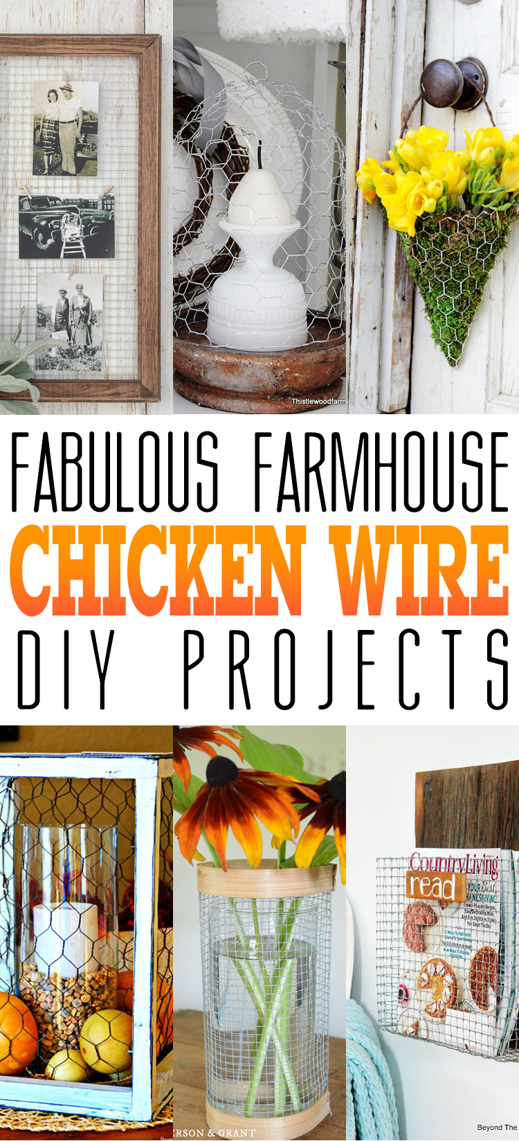 fabulous farmhouse chicken wire diy projects the cottage