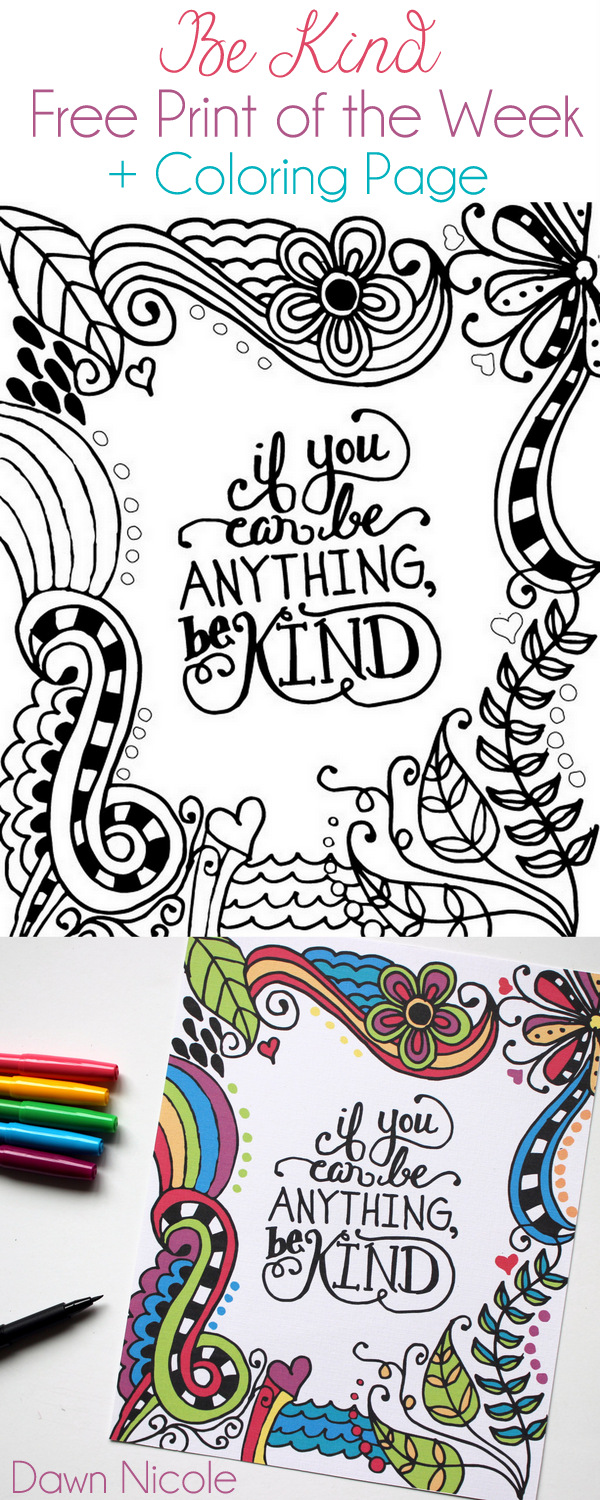 be kind coloring pages - photo#29