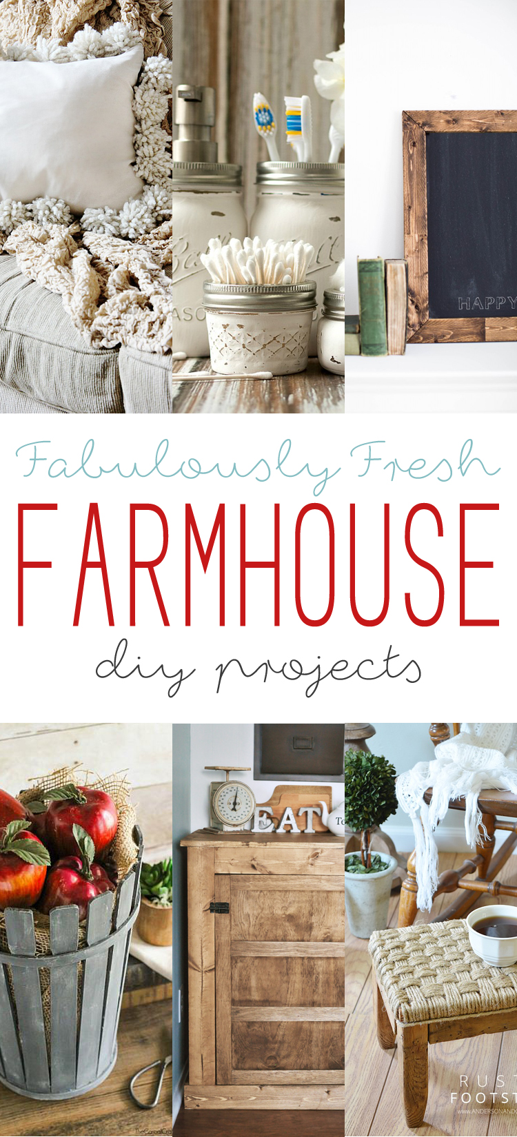 Fabulously fresh farmhouse diy projects the cottage market for Farmhouse cottage decor