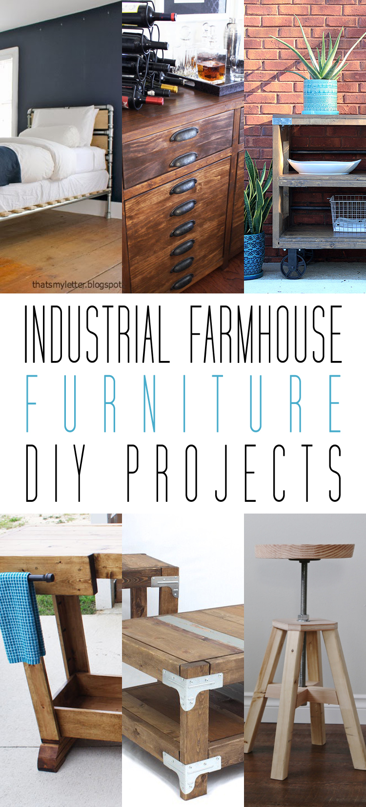 Industrial farmhouse furniture diy projects the cottage for Industrial diy projects