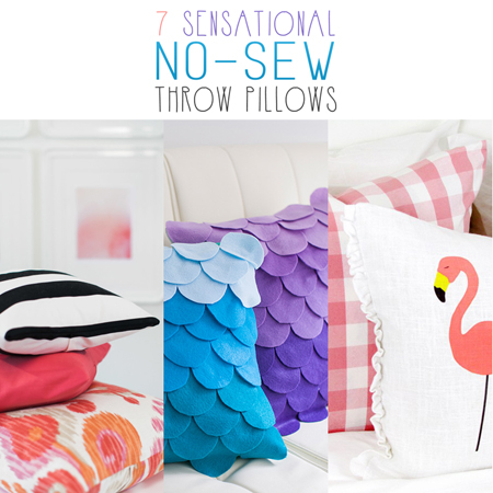 7 Sensational No-Sew Throw Pillows