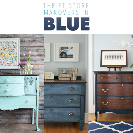 Thrift Store Makeovers in Blue