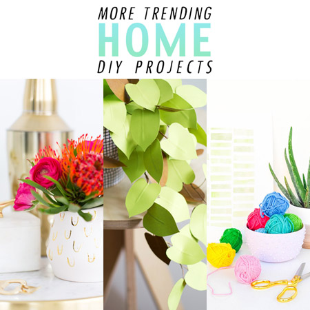More Trending Home Decor DIY Projects