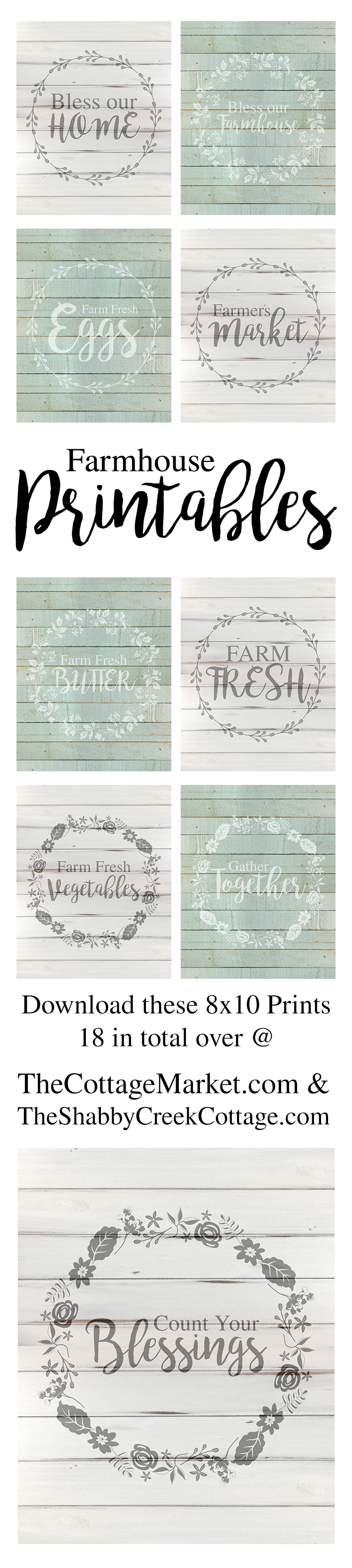 These free farmhouse printables make great wall decor pieces.