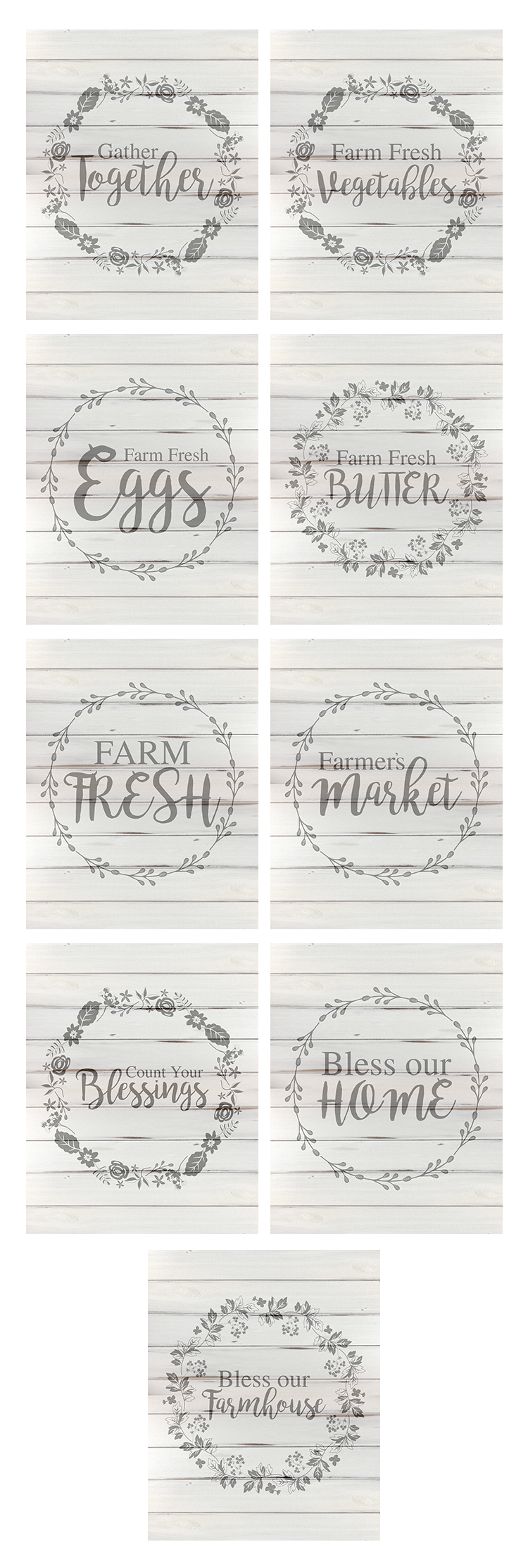 These free farmhouse themed printables are simple and adorable.