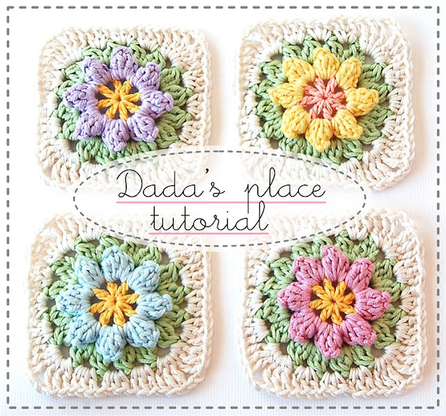 Crochet Pattern Granny Square With Flower : Gorgeous Free Granny Square Crochet Patterns - The Cottage ...