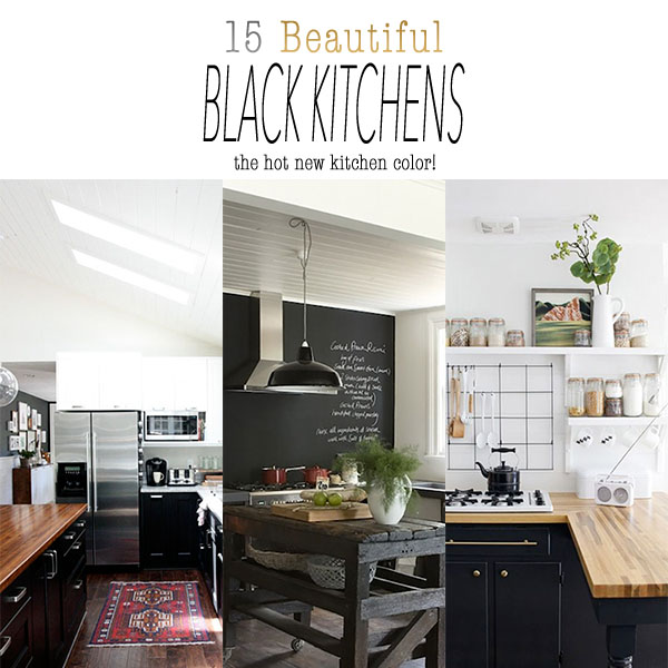 15 Beautiful Black Kitchens /// The Hot New Kitchen Color