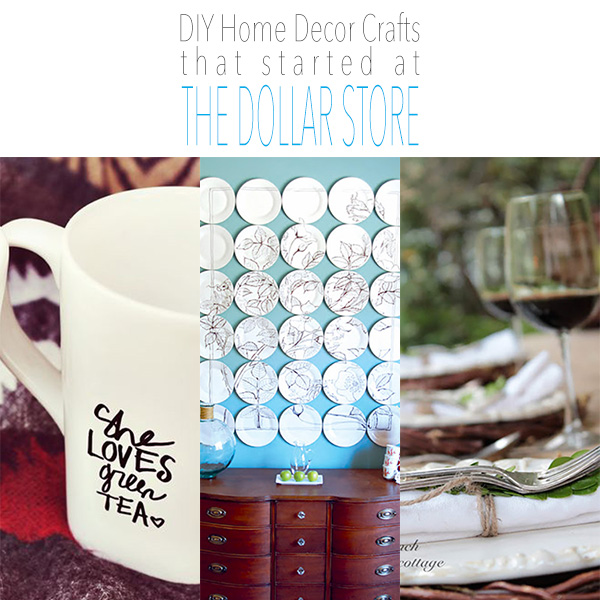 Diy home decor crafts that started at the dollar store page 2 of 14 the cottage market - Dollar store home decor ideas pict ...