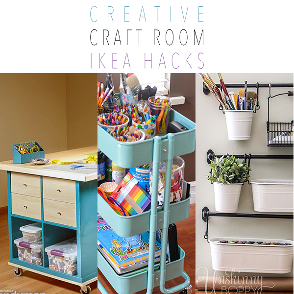 Creative Craft Room IKEA Hacks