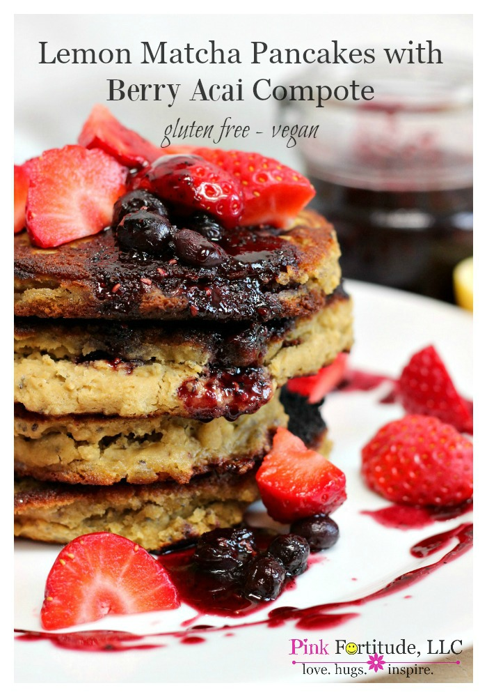 Lemon-Matcha-Pancakes-with-Berry-Acai-Compote