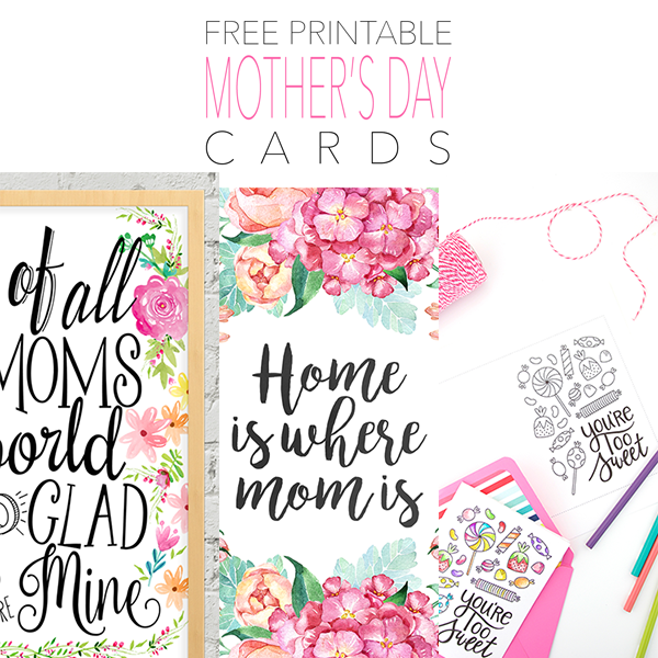 graphic regarding Printable Mothers Day Cards for Wife identified as Cost-free Printable Moms Working day Playing cards - The Cottage Sector
