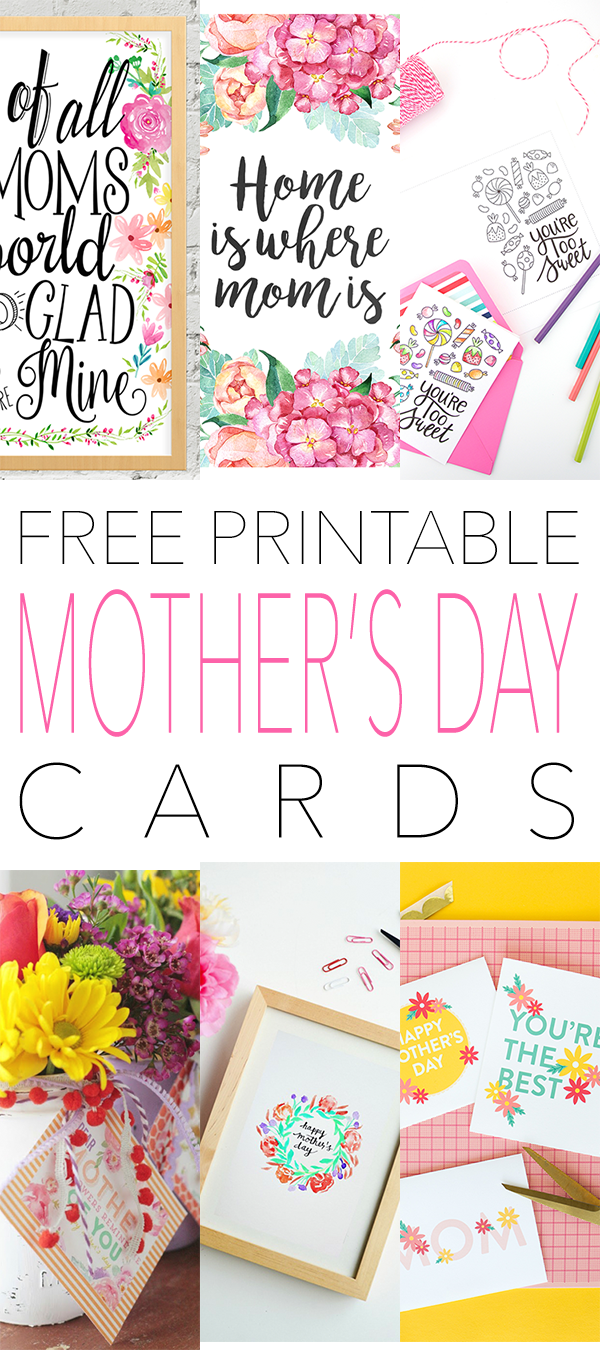 Free Printable Mothers Day Cards The Cottage Market