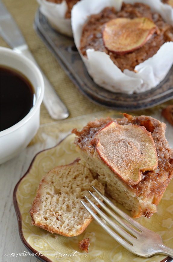 Rustic apple muffin with crumb topping from anderson and grant